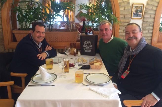 Jesús Martínez (@jemarey43) junto a Joan Viladelprat y Josep Lluis Merlos en Jerez