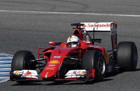 Sebastian Vettel lidera la primera sesión de tests de pretemporada en Jerez