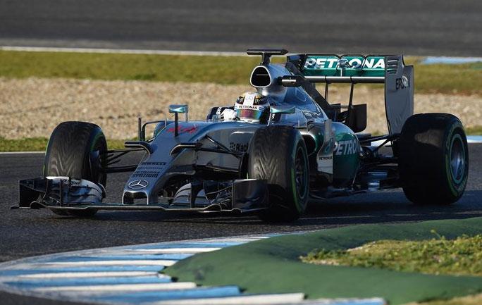 Lewis Hamilton ha sido nuevamente el que más vueltas ha dado hoy en Jerez