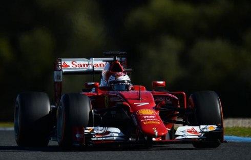 Kimi Raikkönen marcó el mejor tiempo de los cuatro días en Jerez