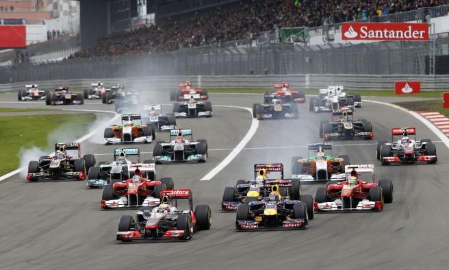 Imagen del GP de Alemania de 2011, disputado sobre el asfalto de Nurburgring