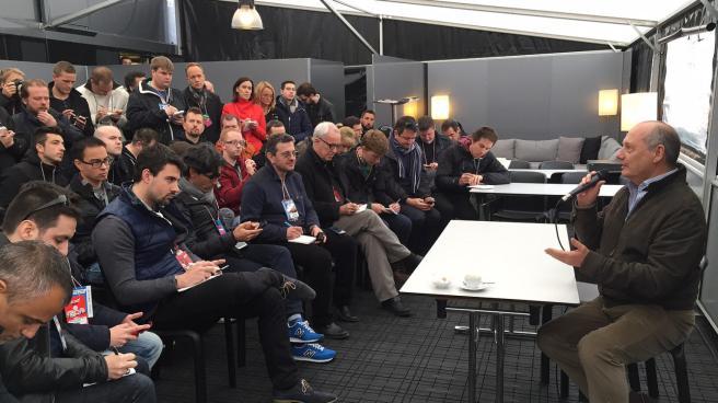 Ron Dennis durante su rueda de prensa del jueves en Montmeló