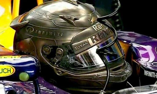 Espectacular casco de Sebastian Vettel, usado en el GP de Mónaco de 2014