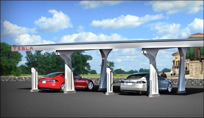 Tesla Motors ya cuenta con su propia red de puntos de recarga