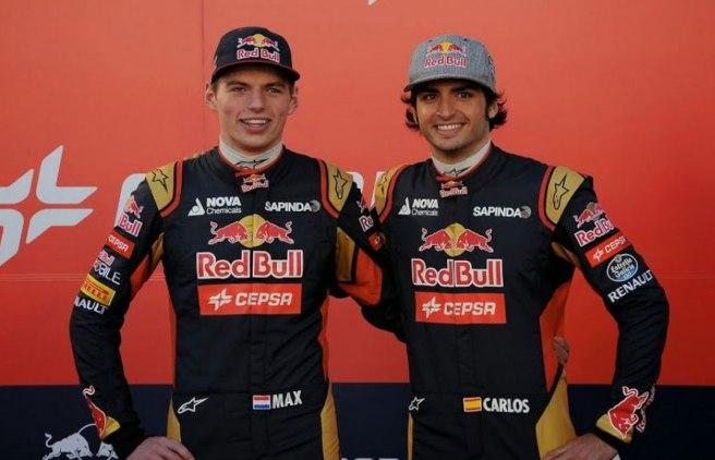 Carlos Sáinz Jr. y Max Verstappen, la pareja de pilotos más jóvenes de la historia de la F1