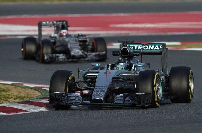 Nico Rosberg dio una tregua a sus rivales hoy
