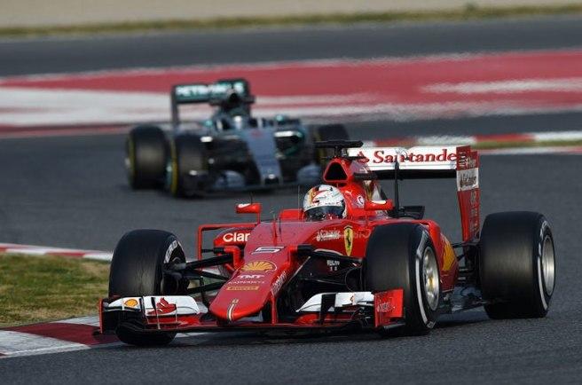 La mejoría de Ferrari, hoy con Sebastian Vettel, es innegable