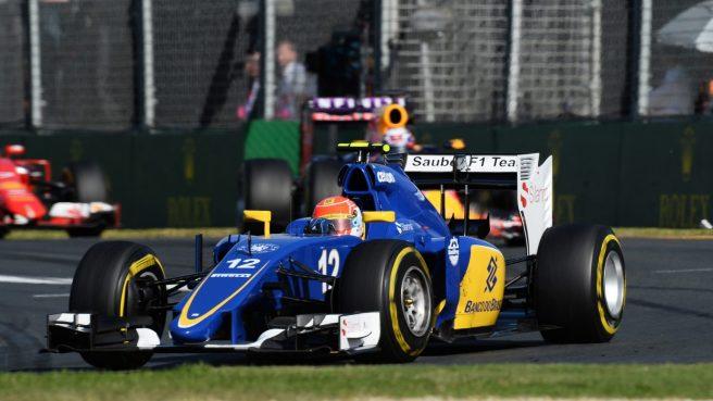 Marcus Ericsson logró llevar a su Sauber a los puntos
