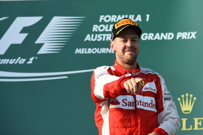 Sebastian Vettel, primera carrera con Ferrari y primer pódium