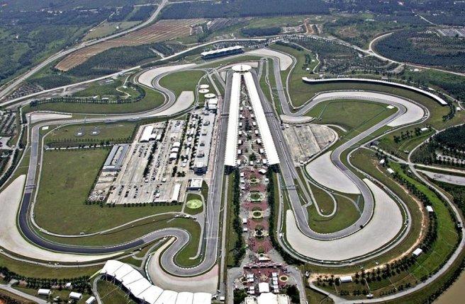 Espectacular vista aérea del circuito de Sepang