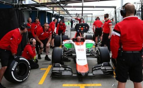 Pese a los intentos, Manor no pudo rodar ni una vuelta en Melbourne