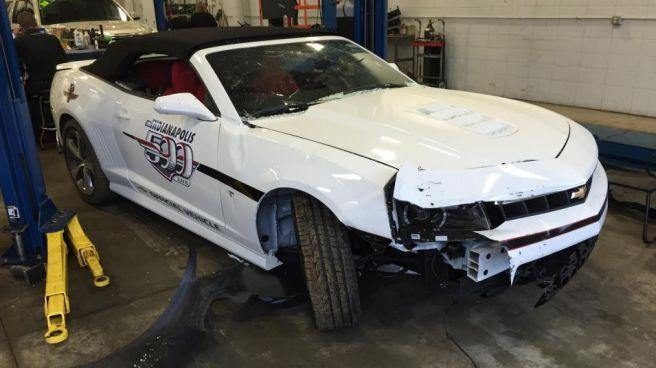Así ha quedado el Chevrolet Camaro de las 500 Millas de Indianápolis robado esta semana
