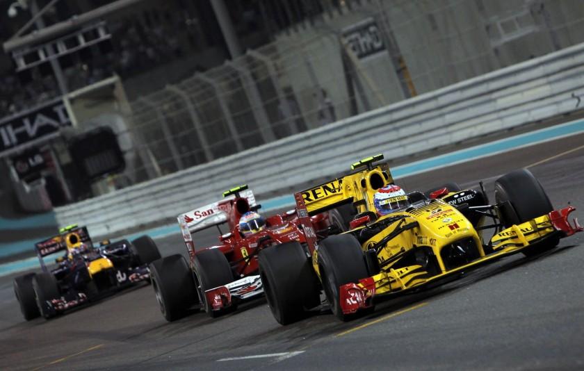 Fernando Alonso, durante el GP de Abu Dhabi 2010, su mayor frustración de estos años