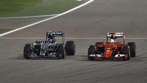 Nico Rosberg, en pleno duelo con Sebastian Vettel