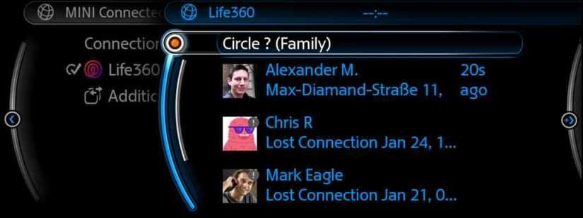 BMW  y Mini integran la app Life360 en sus sistemas de entretenimiento