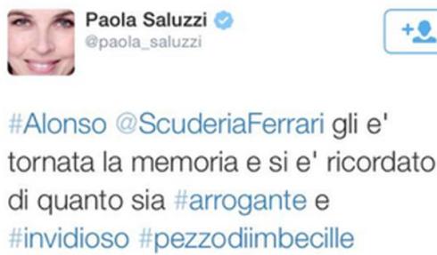 Mensaje de Paola Saluzzi en el que ofendía a Fernando Alonso