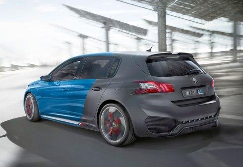 El Peugeot 308 R Hybrid sorprende por su carrocería en dos colores