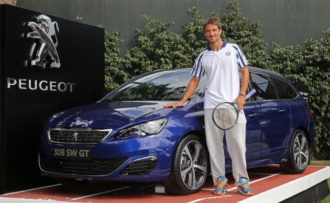 Tommy Robredo, nuevo miembro del Peugeot Tennis Team