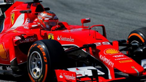 Raffaele Marciello cumplió a bordo del Ferrari SF15-T