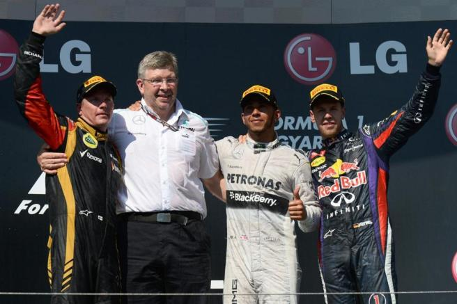 El GP de Hungría 2013 supuso la primera victoria de Hamilton con Mercedes