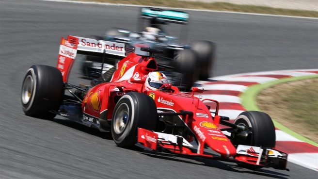Gran carrera hoy de Sebastian Vettel en Barcelona