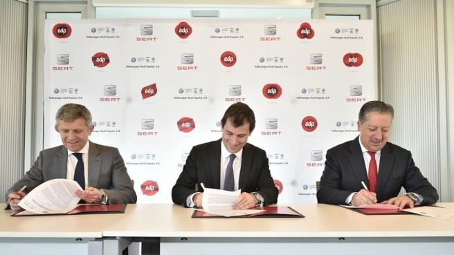 EDP, Seat y Audi-VW España firman un acuerdo para el uso del GNC