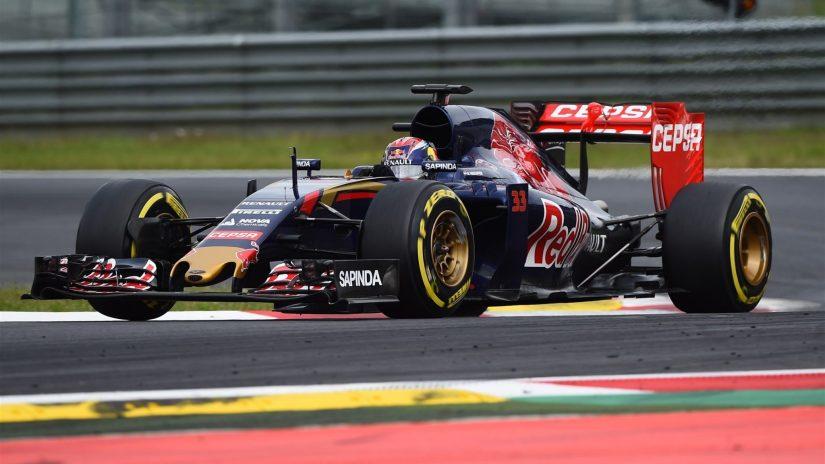 Maratonia jornada para Max Verstappen y Toro Rosso, a pesar del aguacero