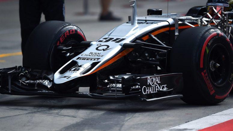 Detalle del nuevo frontal del Force India VJM08