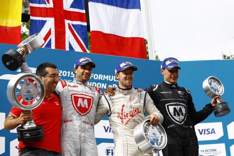 Ultimo podio de la temporada 2014/2015 de Fórmula E