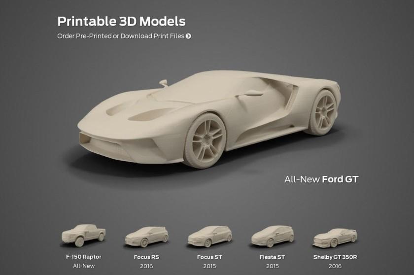 Ford lanza su primera tienda on-line de impresión en 3D