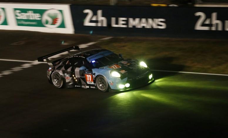 El actor norteamericano Patrick Dempsey, segundo en la categoría GTE Am con Porsche