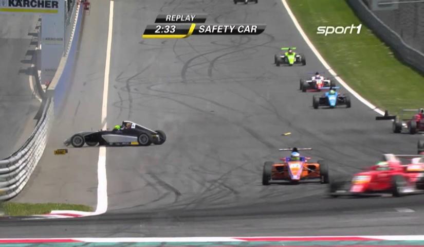 Momento del accidente de Mick Schumacher el pasado fin de semana en el Red Bull Ring