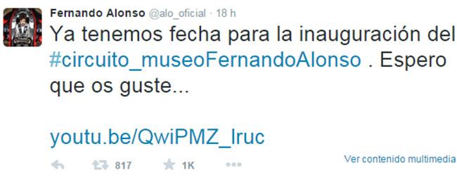 La inauguración del Museo Fernando Alonso en Asturias ya tiene fecha