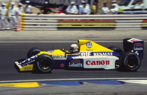 El Williams FW13B de 1990, presente en Goodwood a manos de Felipe Massa