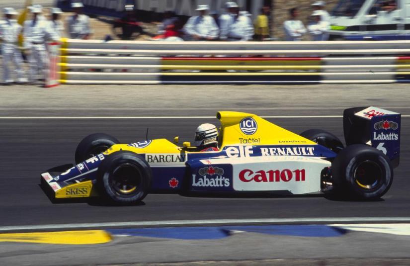 El Williams FW13B de 1990, presente en Goodwood a manos de Felipe Massa