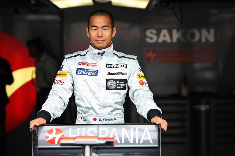 El japonés Sakon Yamamoto, en su época de piloto del equipo HRT de Fórmula 1