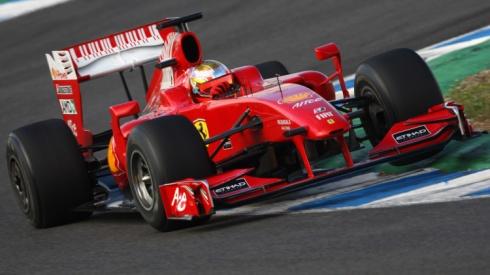 Jules Bianchi, probando con Ferrari en los Tests de  Jóvenes  Pilotos de 2009