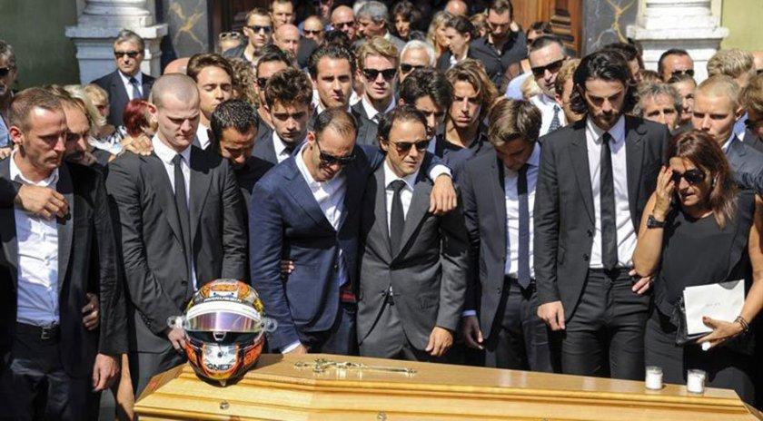 Multitudinaria despedida a Jules Bianchi hoy en Niza