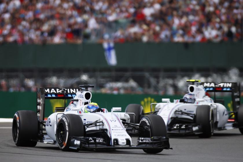 Los dos Williams liderando la carrera