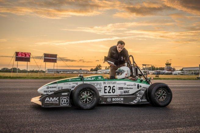 La Universidad de Stuttgart logra un nuevo récord de aceleración con su propio coche eléctrico