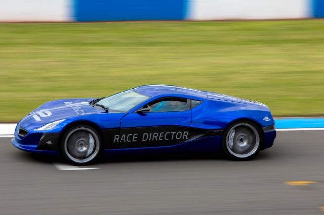 El Rimac Concept One, actual coche de Dirección de Carrera para la Fórmula E