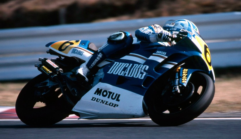 Joan Garriga, a bordo de la Yamaha de 500, durante la temporada 1991