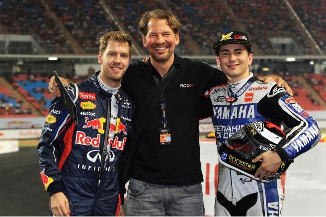 Sebastian Vettel y Jorge Lorenzo, juntos otra vez en la ROC 2015