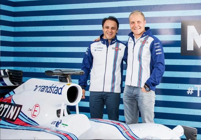 Felipe Massa y Valtteri Bottas, juntos en Williams de nuevo para 2016