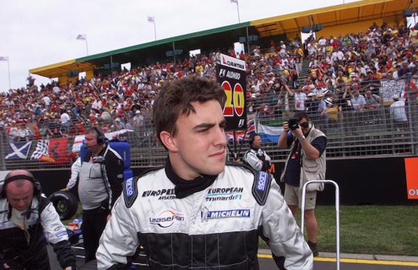 Fernando Alonso, en su debut en la Fórmula 1 en 2001