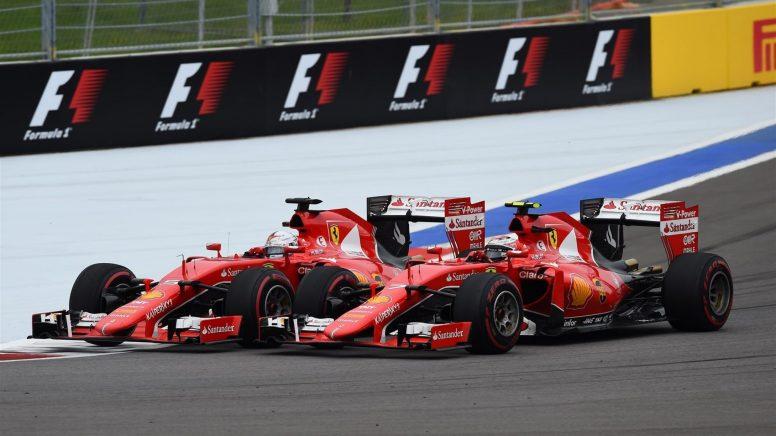 Dura pugna la vivida hoy entre los dos Ferrari