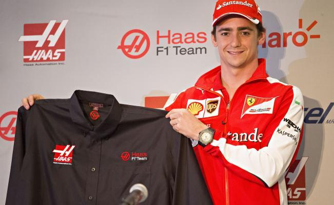 Esteban Gutiérrez, en su presentación como nuevo piloto de Haas F1 para 2016