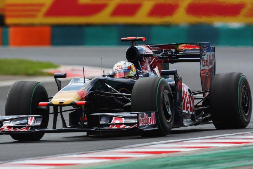 Jaime Alguersuari, en su debut en la Fórmula 1, el GP de Hungría de 2009