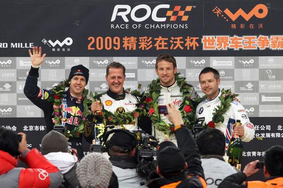 Button, subcampeón por naciones en la ROC 2009, disputada en China