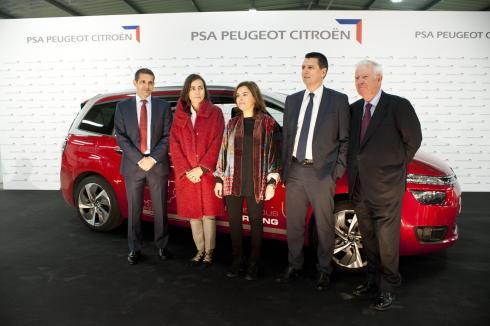 La Vicepresidenta del Gobierno recibió a la comitiva en Madrid